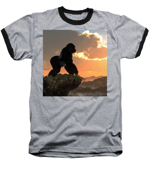 Gorilla Sunset Baseball T-Shirt