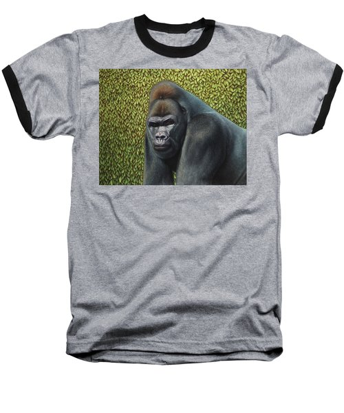 Gorilla With A Hedge Baseball T-Shirt