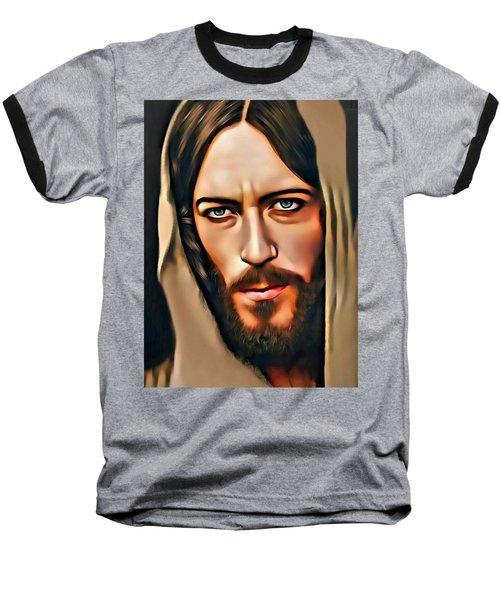 Baseball T-Shirt featuring the digital art Got Jesus? by Karen Showell