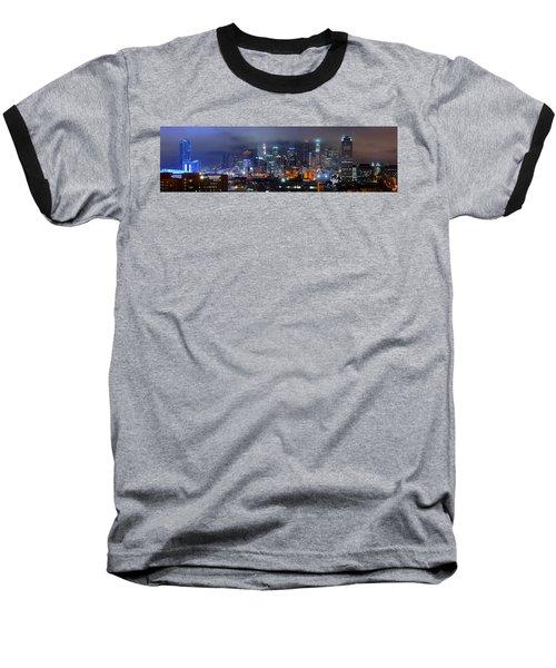 Gotham City - Los Angeles Skyline Downtown At Night Baseball T-Shirt