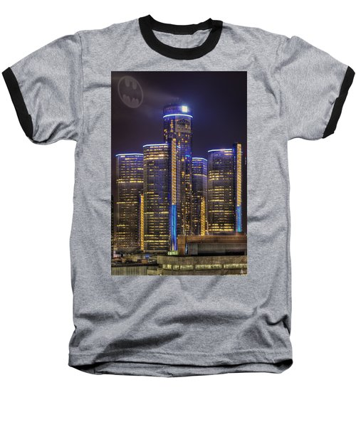 Gotham Detroit Baseball T-Shirt by Nicholas  Grunas