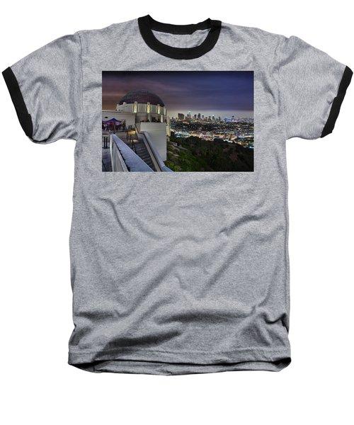 Gotham Griffith Observatory Baseball T-Shirt