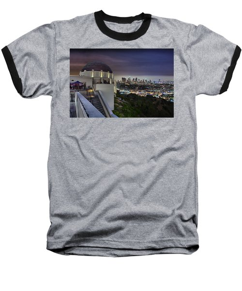 Gotham Griffith Observatory Baseball T-Shirt