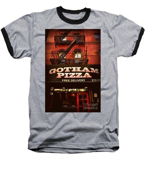 Gotham Pizza Baseball T-Shirt
