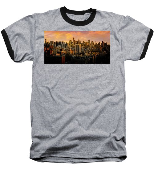 Baseball T-Shirt featuring the photograph Gotham Sunset by Chris Lord