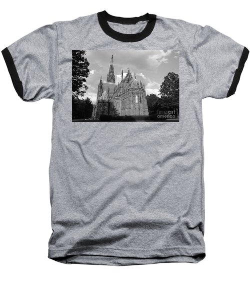Baseball T-Shirt featuring the photograph Gothic Church In Black And White by John Telfer