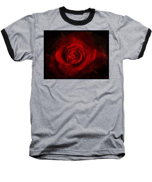 Baseball T-Shirt featuring the digital art Gothic Red Rose by Absinthe Art By Michelle LeAnn Scott