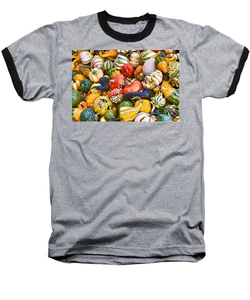 Gourds And Pumpkins At The Farmers Market Baseball T-Shirt