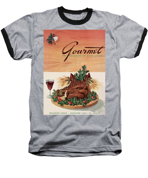 Gourmet Cover Featuring A Boar's Head Baseball T-Shirt