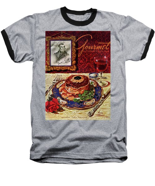 Gourmet Cover Featuring A Plate Of Tournedos Baseball T-Shirt