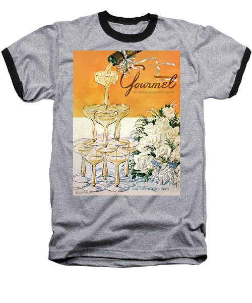 Gourmet Cover Featuring A Pyramid Of Champagne Baseball T-Shirt