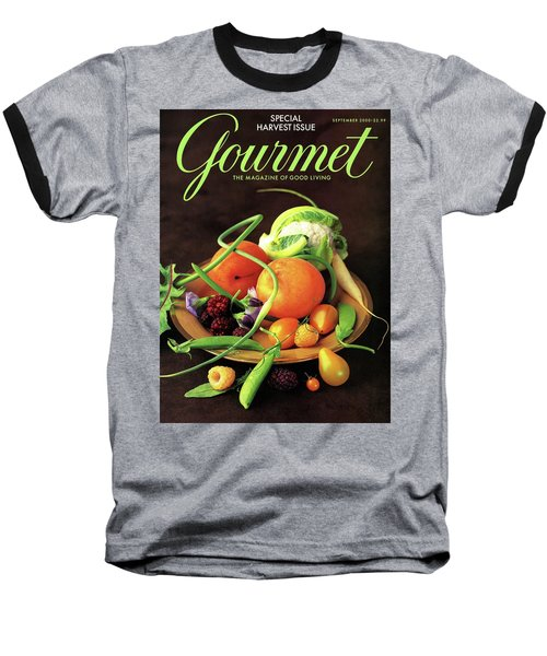 Gourmet Cover Featuring A Variety Of Fruit Baseball T-Shirt