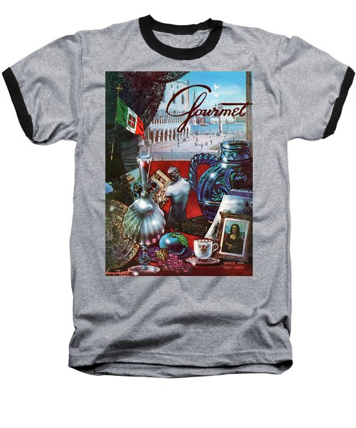 Gourmet Cover Featuring A Variety Of Italian Baseball T-Shirt