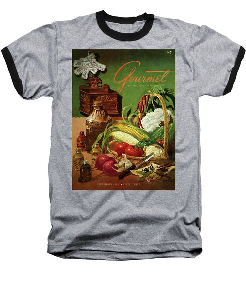 Gourmet Cover Featuring A Variety Of Vegetables Baseball T-Shirt
