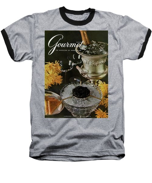Gourmet Cover Featuring A Wine Cooler Baseball T-Shirt