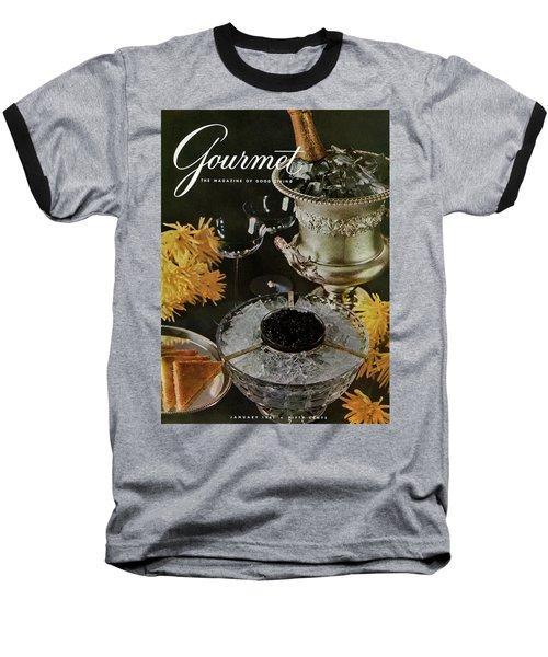 Gourmet Cover Featuring A Wine Cooler Baseball T-Shirt