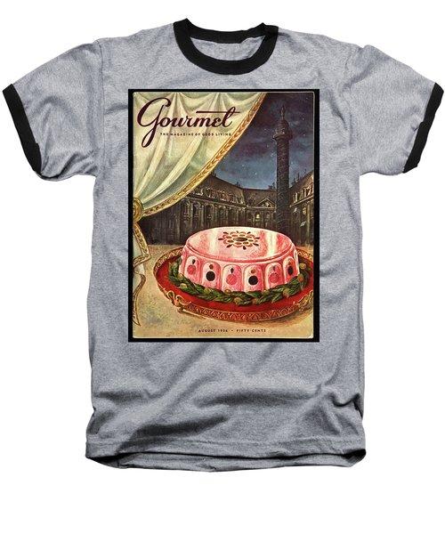 Gourmet Cover Featuring Ham Mousse Baseball T-Shirt