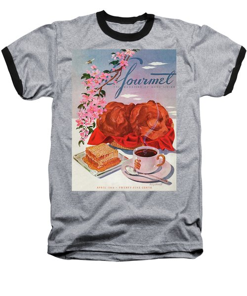 Gourmet Cover Illustration Of A Basket Of Popovers Baseball T-Shirt