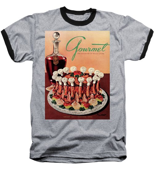 Gourmet Cover Illustration Of A Crown Roast Baseball T-Shirt