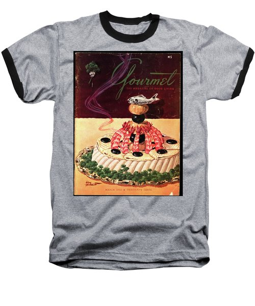 Gourmet Cover Illustration Of A Filet Of Sole Baseball T-Shirt