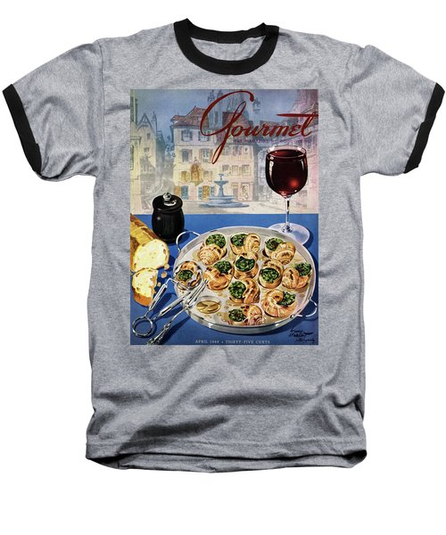 Gourmet Cover Illustration Of A Platter Baseball T-Shirt