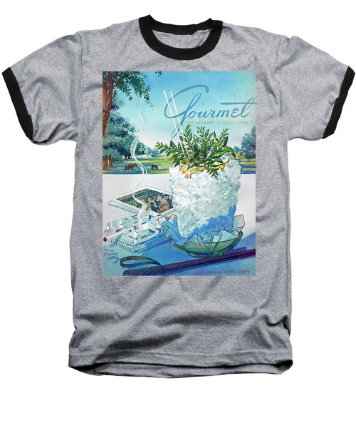 Gourmet Cover Illustration Of Mint Julep Packed Baseball T-Shirt