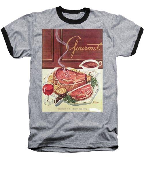 Gourmet Cover Of A Roast Beef Baseball T-Shirt