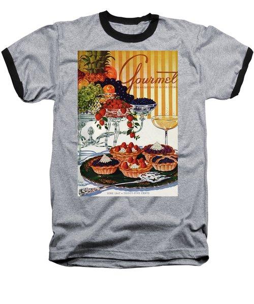 Gourmet Cover Of Fruit Tarts Baseball T-Shirt