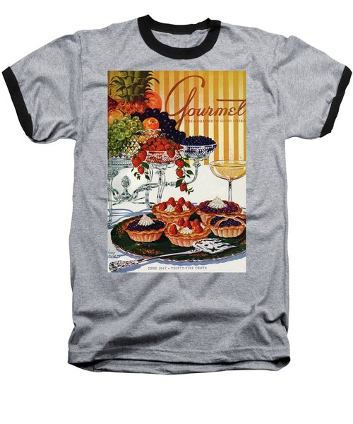 Gourmet Cover Of Fruit Tarts Baseball T-Shirt