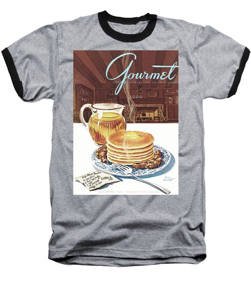 Gourmet Cover Of Pancakes Baseball T-Shirt