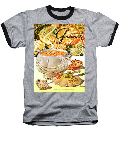 Gourmet Cover Of Pumpkin Soup Baseball T-Shirt