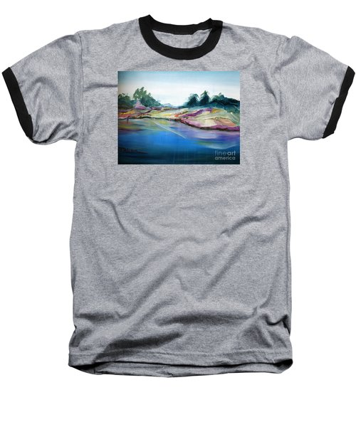Baseball T-Shirt featuring the painting Gowrie Creek Spring by Therese Alcorn
