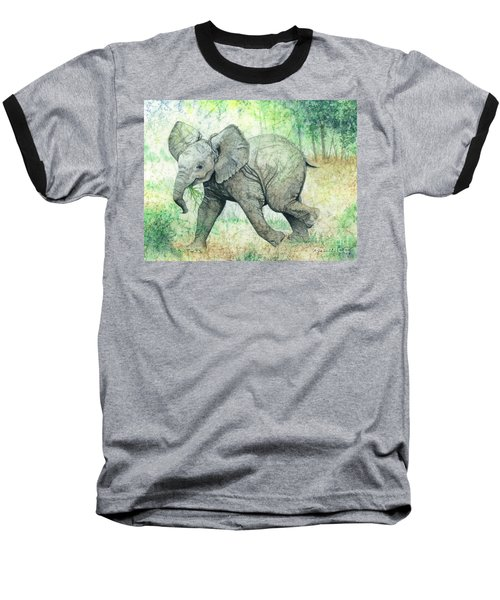 Baseball T-Shirt featuring the painting Grabbing A Snack by Barbara Jewell