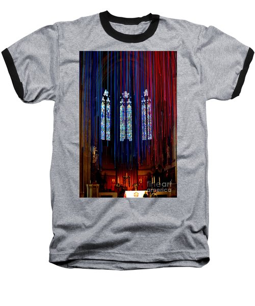 Grace Cathedral With Ribbons Baseball T-Shirt
