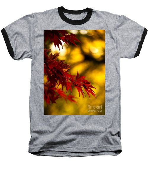 Graceful Leaves Baseball T-Shirt by Mike Reid