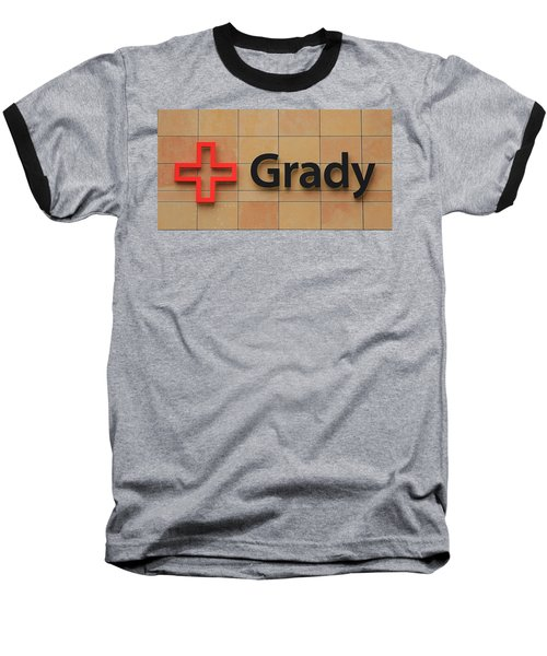 Grady Hospital Atlanta Georgia Art Baseball T-Shirt