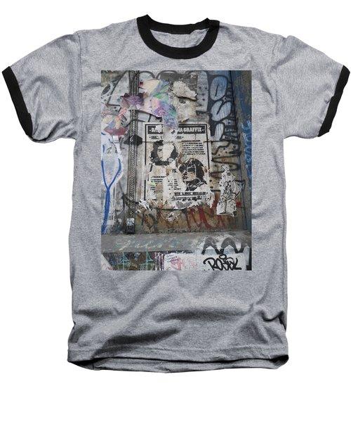 Graffiti In New York City Che Guevara Mussolini  Baseball T-Shirt