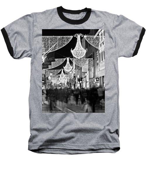 Grafton Street At Christmas / Dublin Baseball T-Shirt