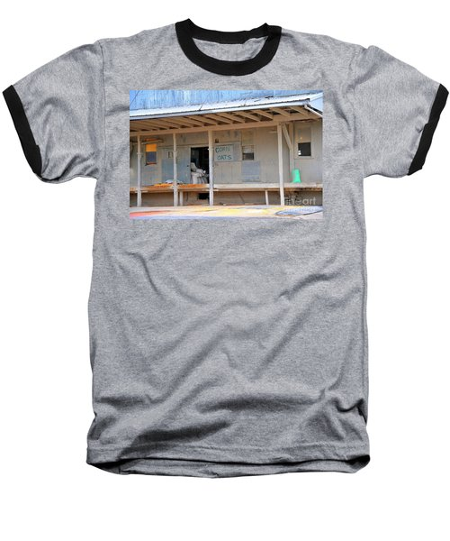 Baseball T-Shirt featuring the photograph Grain Elevator by Terri Gostola