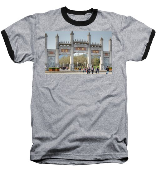 Grand Buddha Gates Baseball T-Shirt