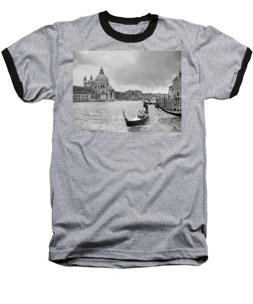 Baseball T-Shirt featuring the painting Grand Canal Venice Italy by Georgi Dimitrov