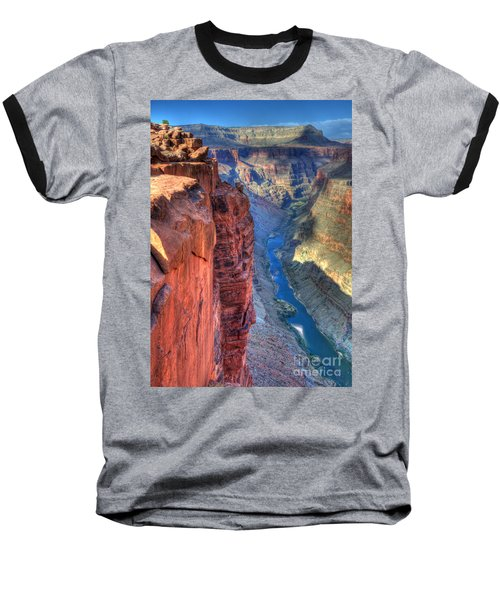 Grand Canyon Awe Inspiring Baseball T-Shirt by Bob Christopher
