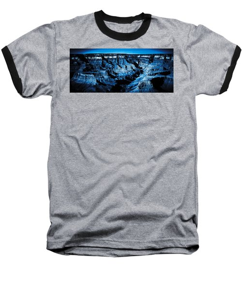 Grand Canyon In Blue Baseball T-Shirt