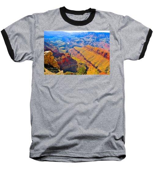 Grand Canyon In Vivid Color Baseball T-Shirt by Jim Hogg