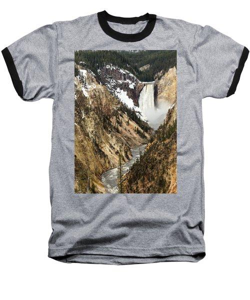Grand Canyon Of The Yellowstone Baseball T-Shirt