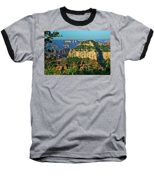 Baseball T-Shirt featuring the photograph Grand Canyon Peak Angel Point by Bob and Nadine Johnston