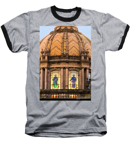 Baseball T-Shirt featuring the photograph Grand Cathedral Of Guadalajara by David Perry Lawrence