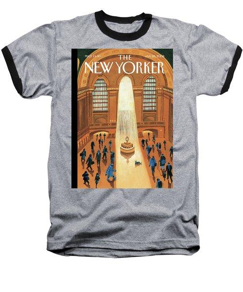 Grand Central Heating Baseball T-Shirt