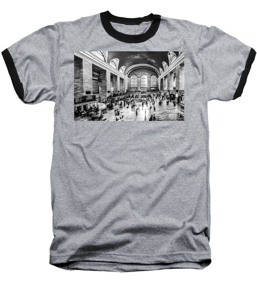 Grand Central Station -pano Bw Baseball T-Shirt