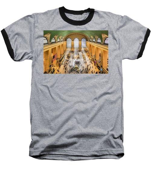 Grand Central Terminal Birds Eye View I Baseball T-Shirt